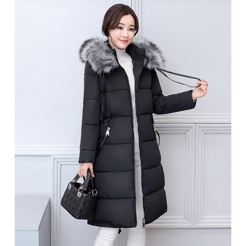 NEW WOMEN WINTER JACKETS 2017 MIDUME LENGTH COAT THICKEN COTTON PADDED BIG FUR COLLAR WARM SLIM FEMALE PARKAS HOT SALE ZL393 2015 new women s fur collar thicken winter coats fashion ladies plus size padded cotton jackets female slim parkas h4435