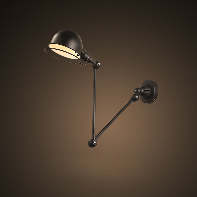 Ecolight Modern Wall Lamp 1 Light E12 E14 Sockets Black or White Painting Swivel Arms Task Reading Wall Light for Study Bed Room