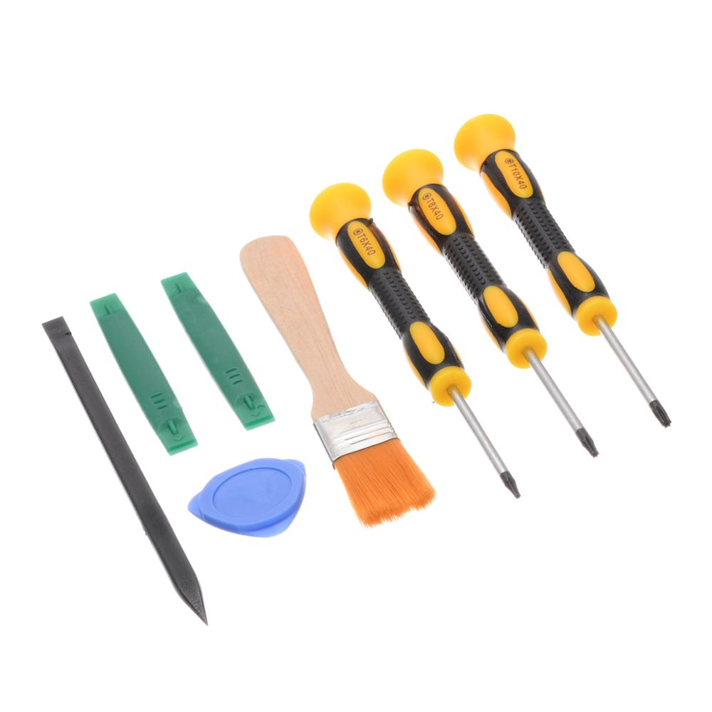 8pcs Prying Tool Kit With Torx T8 T6 T10 Screwdriver And Cleaning Brush Set Repair Tools For Xbox One 360 PS3 PS4