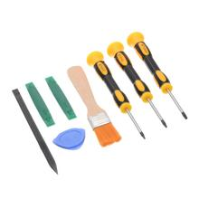 цена на 8pcs Prying Tool Kit with Torx T8 T6 T10 Screwdriver and Cleaning Brush Set Repair Tools For Xbox One 360 PS3 PS4