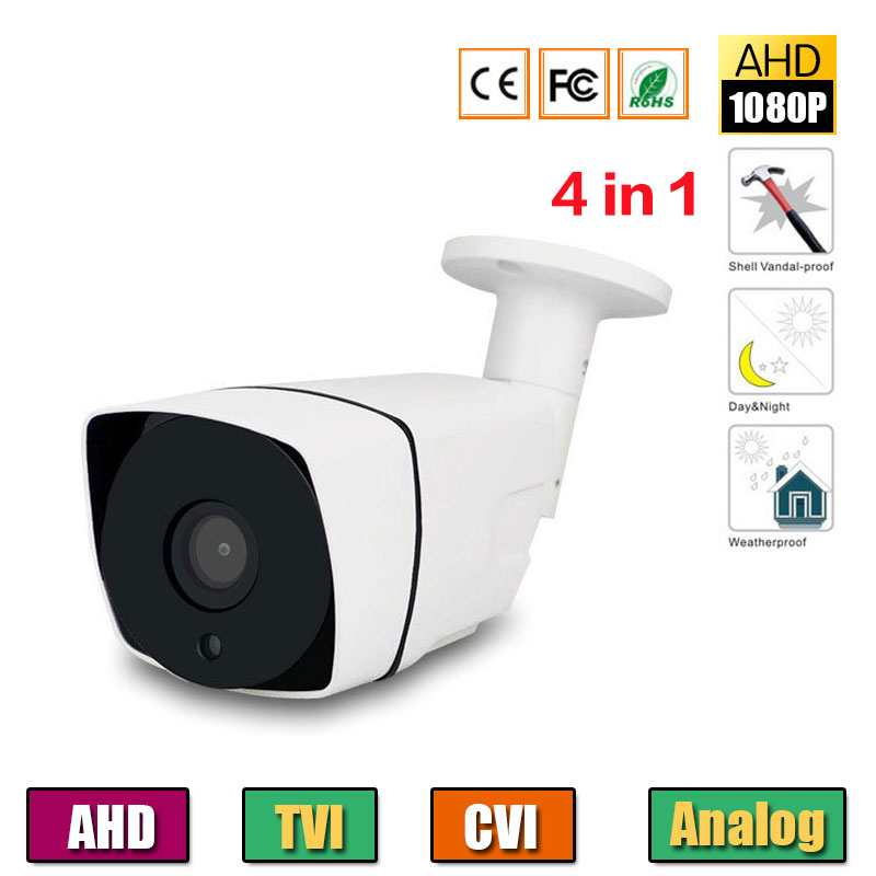 AHD Camera 1080P CCTV Bullet Camera Waterproof Metal housing 3.6mm Lens 2400TVL Security Camera Night vision 2MP AHD camera bullet camera tube camera headset holder with varied size in diameter