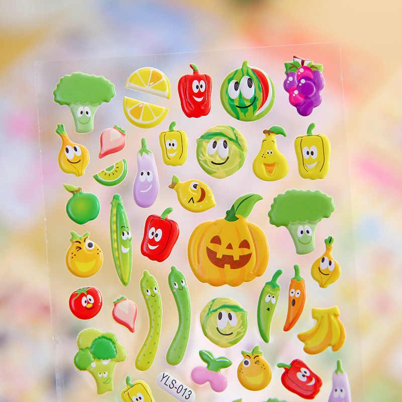 Объемная наклейка s Bubble мультфильм Животные Фрукты DIY стикер s водонепроницаемый девочки мальчики дети игрушки для детей ноутбук наклейка подарки 1 шт