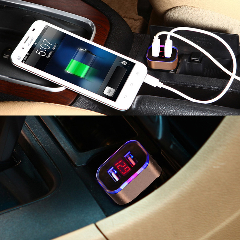 Nkobee Dual Usb Car Charger 3 1a Universal Fast Smart Car: 12V~24V 5V/2.1A/1A USB Smart Car Auto Mobile Cell Phone