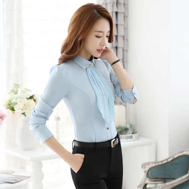 Novelty Blue Slim Fashion Formal Work Suits With Tops And Pants Professional Business Women Ladies Trousers Set Pants Suits