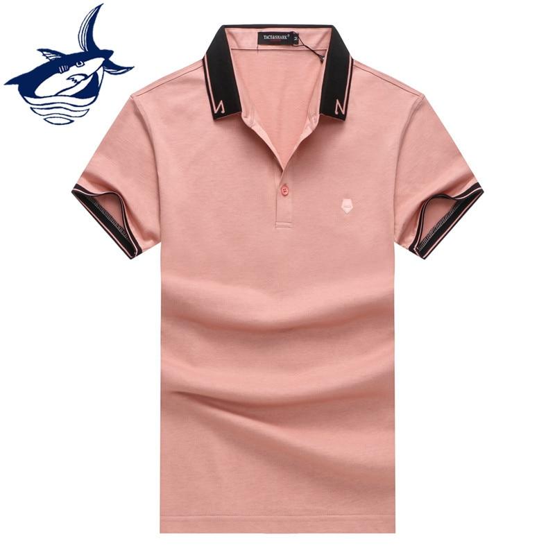 Royal brand Tace & Shark polo shirt men cotton solid casual & business polos para hombre ocean yachting men clothes 2018 polos tace