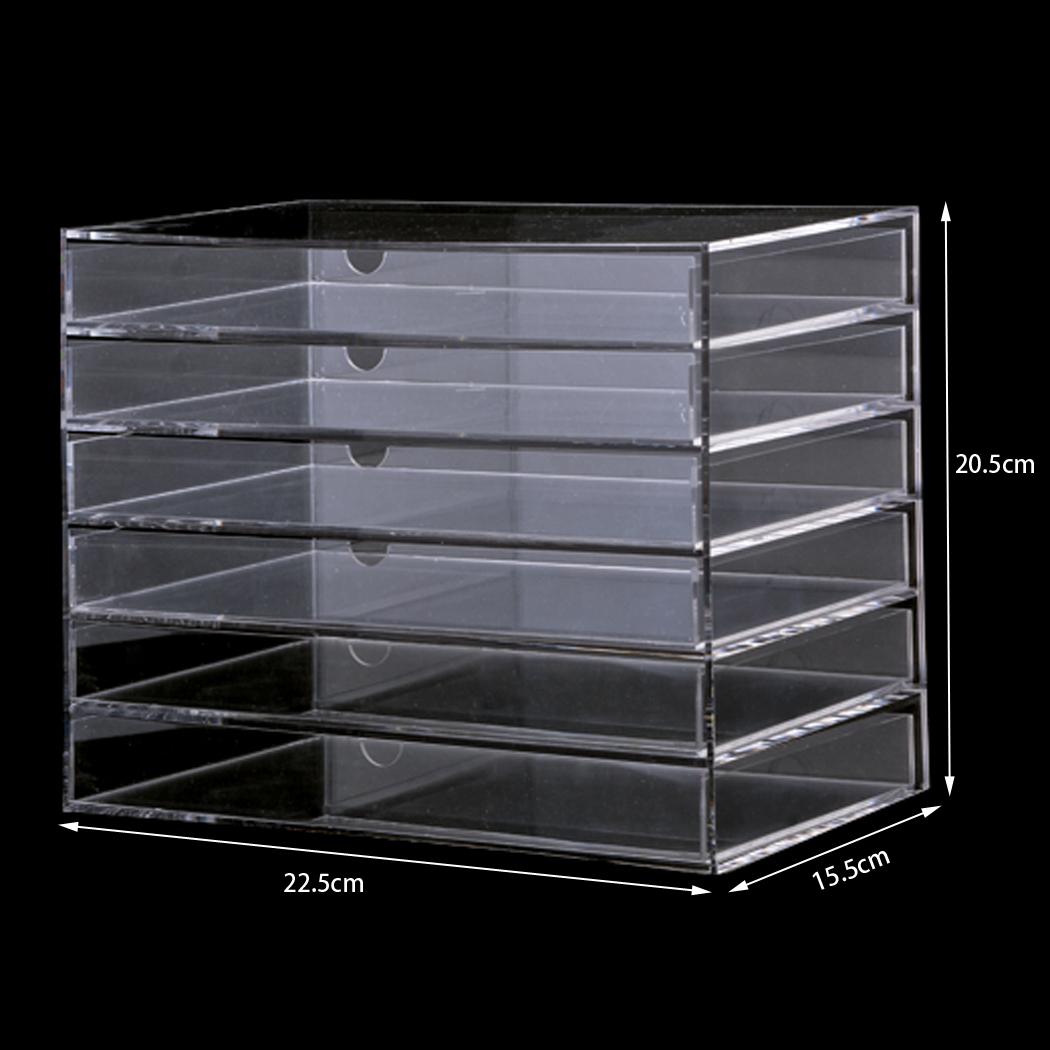 Homdox Clear Acrylic Cosmetic Organizer Makeup Case Sundry Storage