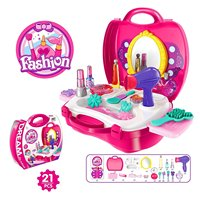 EBOYU TM Beauty Vanity Cases Make Up Case Little Girls Pretend Play Set Cosmetic Set Beauty