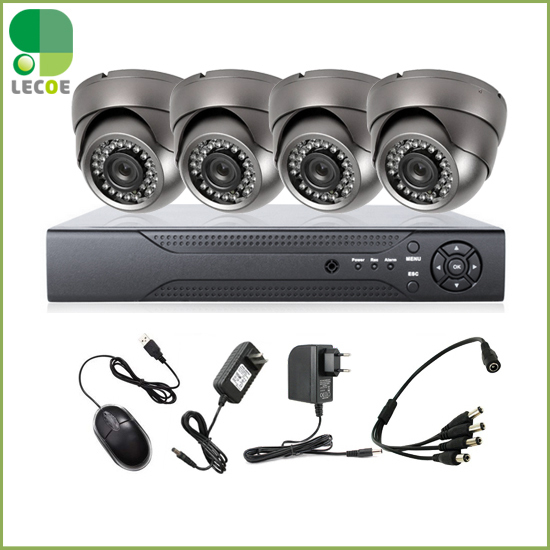 4CH DVR 4pcs Waterproof  Outdoor dome 1200TVL CCTV Home Security  IR-CUT Outdoor NightVision Camera Alarm System4CH DVR 4pcs Waterproof  Outdoor dome 1200TVL CCTV Home Security  IR-CUT Outdoor NightVision Camera Alarm System