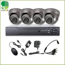 4CH DVR 4 pcs Impermeável Ao Ar Livre dome 1200TVL IR-CUT CCTV Home Security Câmera de Visão Noturna Sistema de Alarme Ao Ar Livre