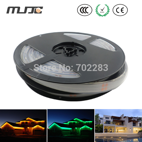 Led strip light 10M 12V 24V IP68 Silicon Glue Waterproof 5050 SMD 60LED/M 300LEDs Warm White Led Strip Light MJJC-SMD505060-RGB