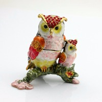 Home Decoration Owl Form Schmuckschachtel Ohrring Aufbewahrungsbox SCJ704