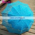 Free Shipping French Blue Royal Lace Wedding Parasol