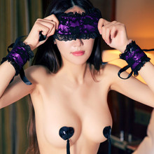 Exotic Apparel Sexy Lingerie Hot Lace Mask Blindfolded Patch + Sex Handcuffs Sex Toys For Couple Erotic Lingerie For Women