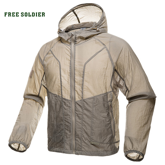 FREE SOLDIER outdoor sports camping tactical military men's skin coat uv protection men shirt sun protection clothes for camping