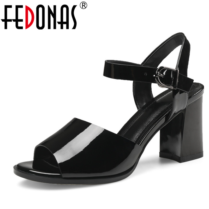 FEDONAS Brand Elegant Women High Heels Pumps High Heel Platform Ankle Strap Summer Sandals Female Genuine Leather Shoes Woman цена