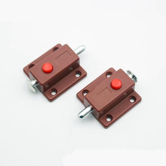 2 Pcs Factory Outlets Plastic Automatic Button Latchout Bolt