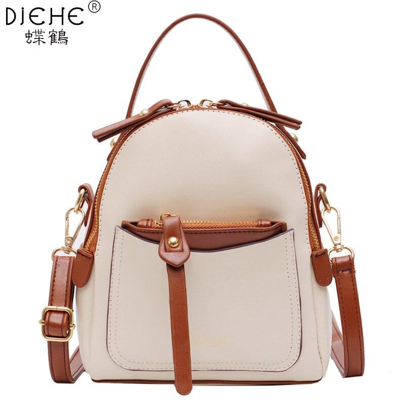 Women Backpack New Fashion School Bag Backpack Pu Leather Backpacks Teenger Girl Shoulder Bag Travel Bags Small Mochila Feminina