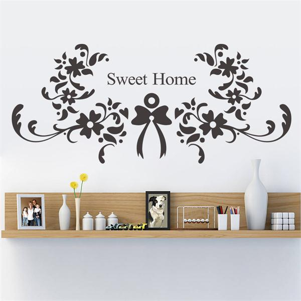 Christmas Decoration Flower Sweet Home Wall Sticker Quote Wall Stickers Home Decor Vinyl Wallpaper Adesivo De