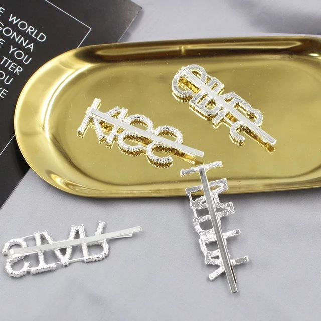 Bling Letter Hairpins