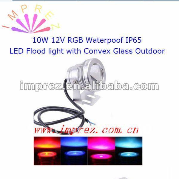 Низкая цена DHL/UPS RGB 12 В led прожектор 10 Вт напольный светильник водонепроницаемый IP65