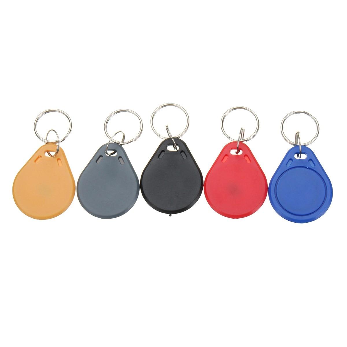100pcs 13.56MHZ Classic1K ABS ISO IC Key Fobs Access Control Keychain RFID Smart Card Tag iso 100 в перми