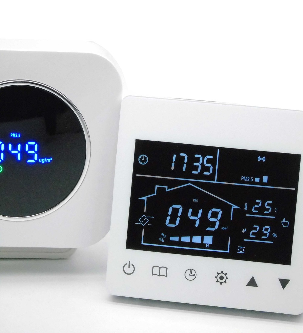 Pm2.5 air quality detector sensor laser Control with ventilator air valve