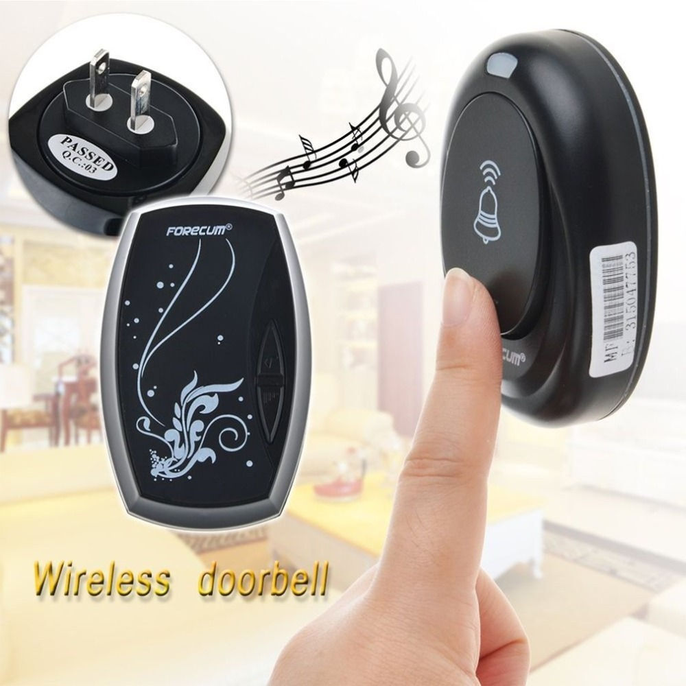 Timbre de Deurbel tipo Plug-in timbre inalámbrico con 36 campanas receptor único inalámbrico inteligente hogar resistente al agua campanas de puerta