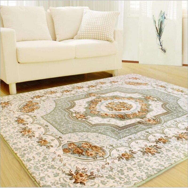 Tapis rose économique européen minimaliste chambre moderne moquette salon table basse canapé tapis de sol tapis de lit
