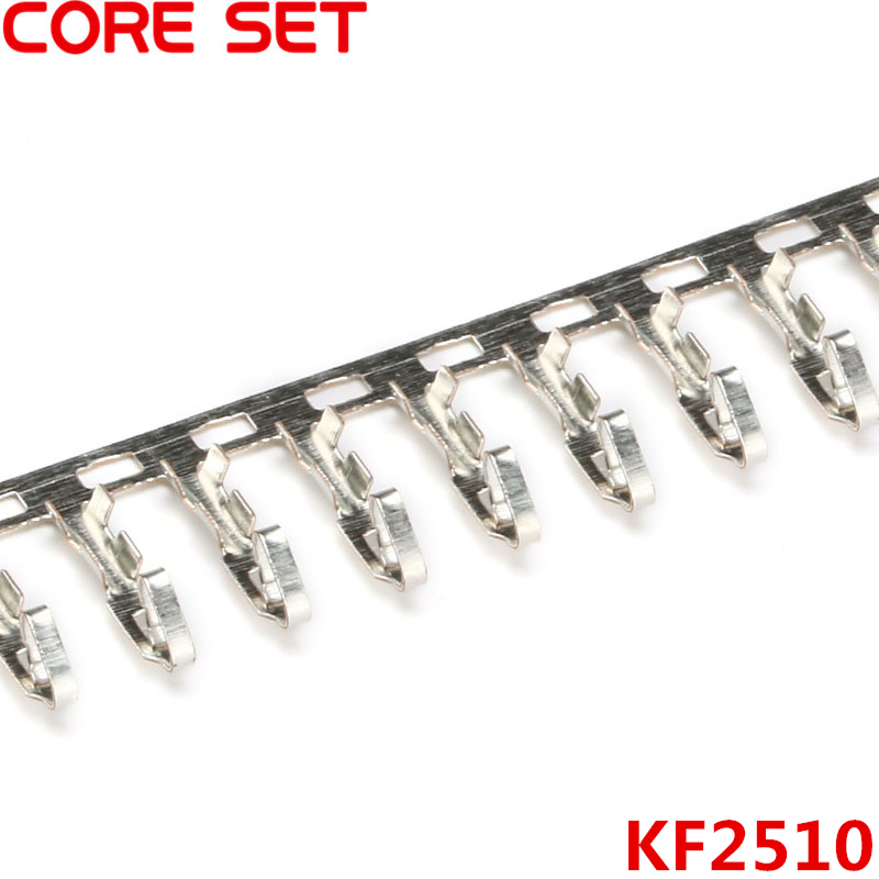 500pcs/lot KF2510-T Copper Crimp Terminal For Connector 2510 Female housing 2.54MM Spacing Connector 50pcs lot copper crimp terminal kf50801 rt for 5 08mm ide hdd power female connector free shipping