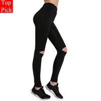 Knee Hole Design Yoga Sports Leggings For Women Sports Tight New Yoga Leggings Yoga Pants Women