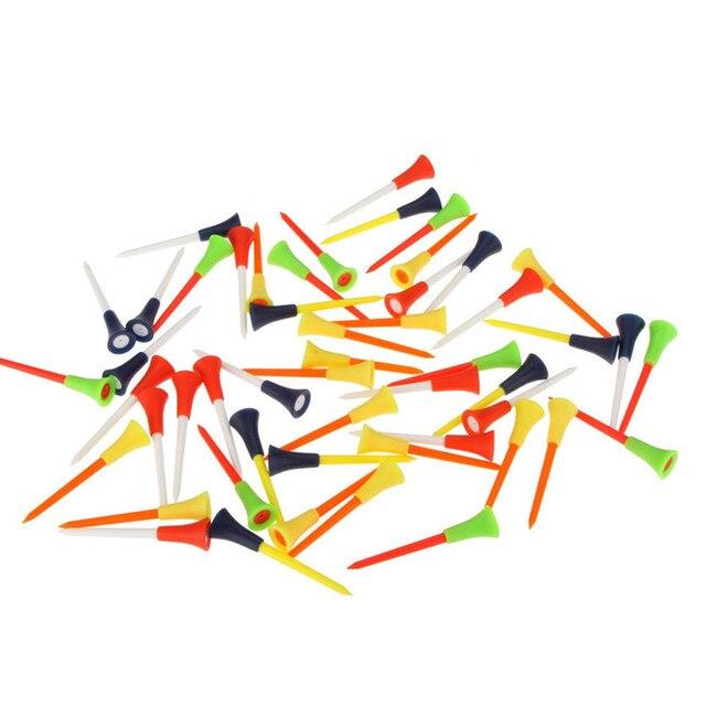 """30 pc רב צבע פלסטיק גולף Tees 83 מ""""מ עמיד גומי כרית למעלה גולף טי עם משלוח חינם"""