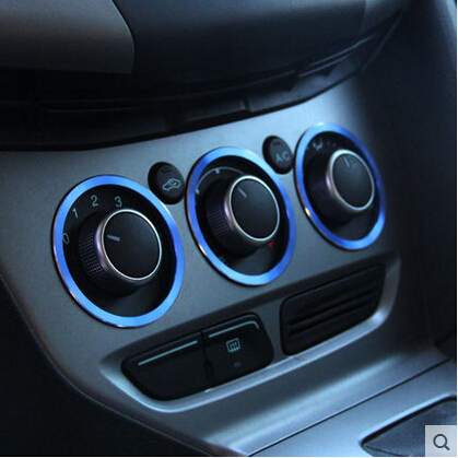 buy car interior manual air conditioning knob decoration ring fit for ford. Black Bedroom Furniture Sets. Home Design Ideas