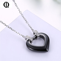Necklaces Of KJ SB N025 Fashion Fine Jewelry Silver Necklaces Black Obsidian Pendant Lovely Pendant For