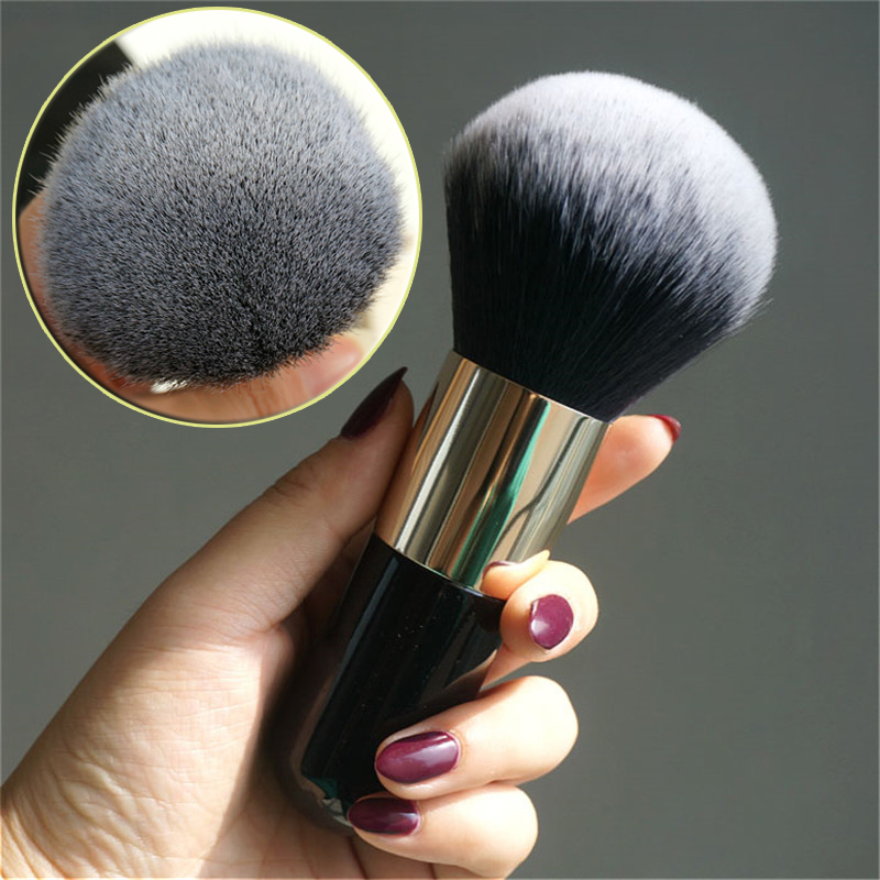 Professional loose paint Black Powder Brush Blush Foundation Make Up Tool Large Cosmetics Brushes Soft Face Makeup все цены