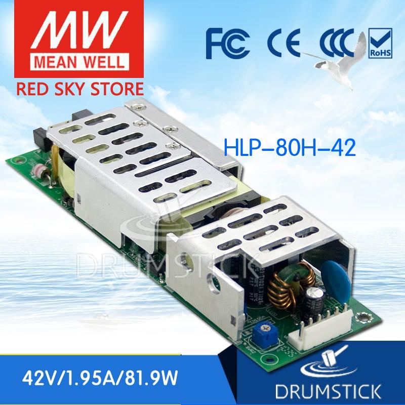цена на MEAN WELL HLP-80H-42 42V 1.95A meanwell HLP-80H 42V 81.9W Single Output LED Driver Power Supply