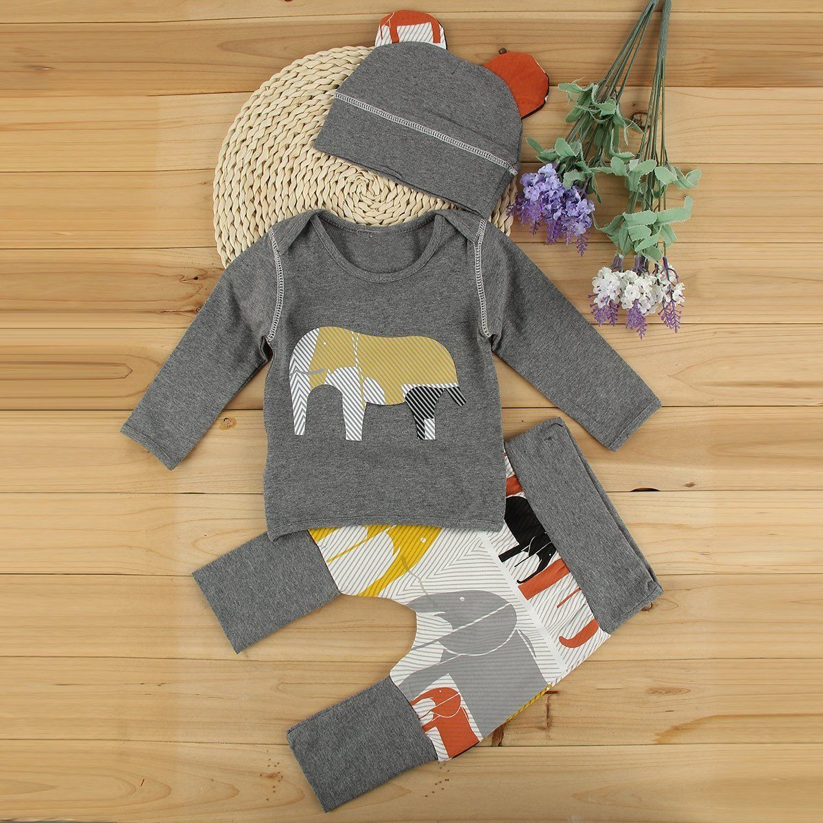 3pcs Toddler Newborn Baby Boy Girl T-shirt Tops+Pants Hat Outfits Set Clothes усилитель yamaha p3500s