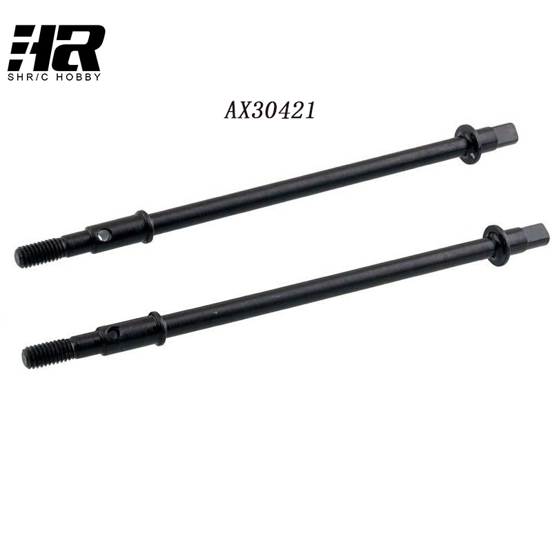 2Pcs Free shipping  RC car AX30421 Rear Straight Axle Shaft 6 * 104.5mm for 1:10 AXIAL SCX10 RC Car 100% brand new high quality motorcycle parts camshaft tappet shaft cam for honda ax 1 nx250 ax 2 not includ rocker arm