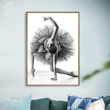 1 Piece Elegant Poetry Simple Fashion Ballet Girl Dancer Canvas Painting Art Print Poster Picture Wall Unframed