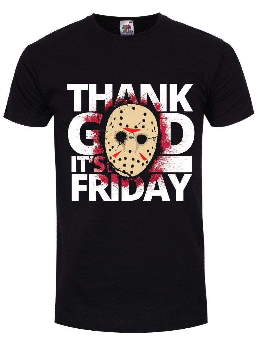 Thank God Its Friday Mens Black T-Shirt