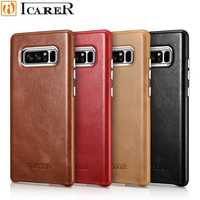 ICarer For Galaxy Note 8 Case Genuine Leather Transformer Vintage Back Cover Series For Samsung Note