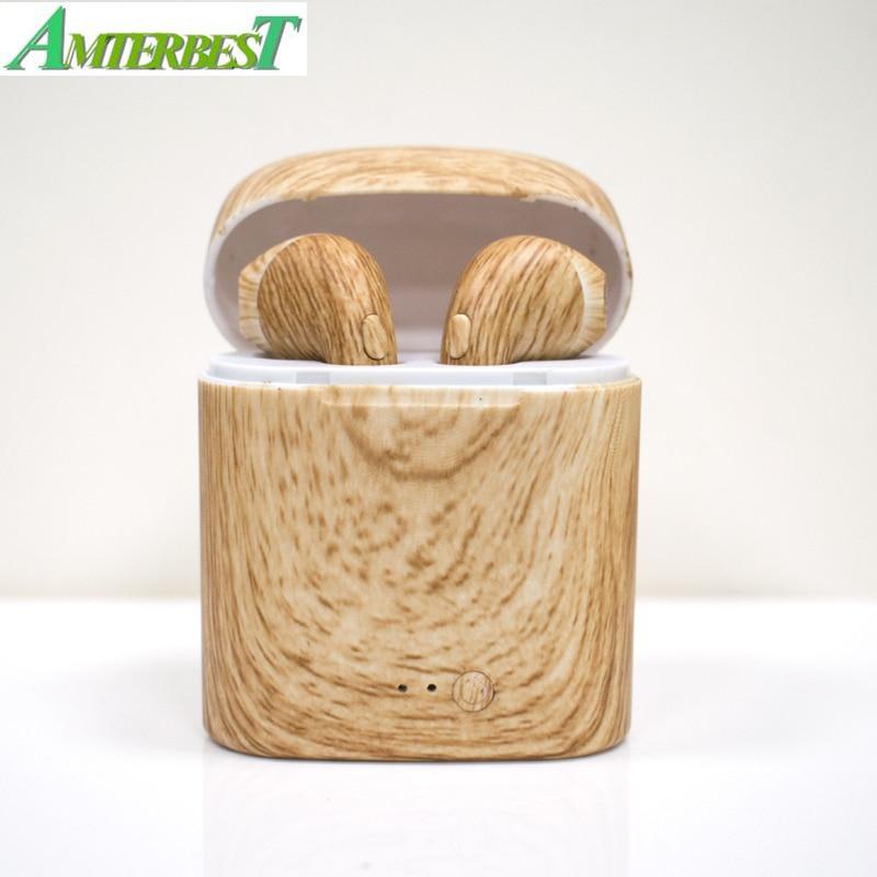 AMTERBEST Custom Product I7 Gekleurde tekening Bluetooth Oortelefoon Twis Bluetooth V4.2 Stereo Headset Oortelefoon voor Bluetooth apparaat