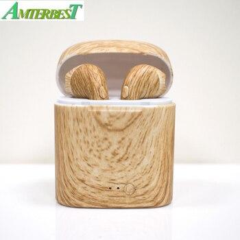 AMTERBEST produit personnalisé I7 couleur dessin Bluetooth écouteur Twis Bluetooth V4.2 stéréo casque écouteur pour appareil Bluetooth