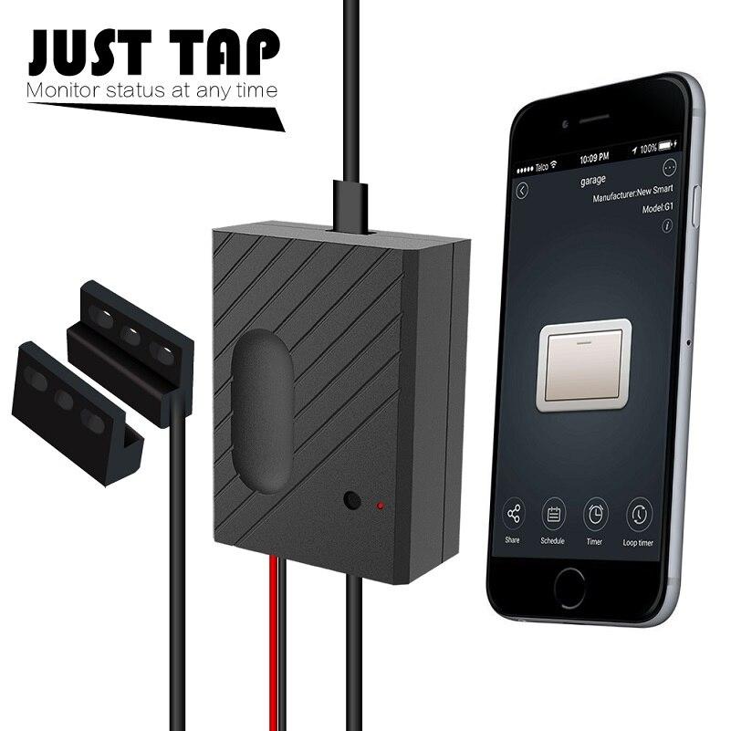 Ewelink переключатель Wi Fi двери гаража управление Лер для гаражная дверь открывалка приложение дистанционное управление сроки голос управлен...
