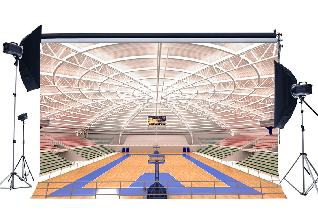 Luxurious Basketball Court Backdrop Stadium Crowd Shabby Wood Floor Interior Gymnasium Photography Background-in Photo Studio Accessories from Consumer Electronics