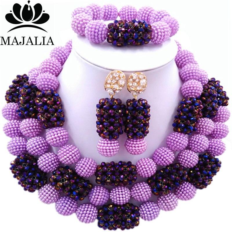 Majalia Classic Fashion Nigerian Wedding African Jewelery Set Purple Crystal Necklace Bride Jewelry Sets 3SZ031Majalia Classic Fashion Nigerian Wedding African Jewelery Set Purple Crystal Necklace Bride Jewelry Sets 3SZ031