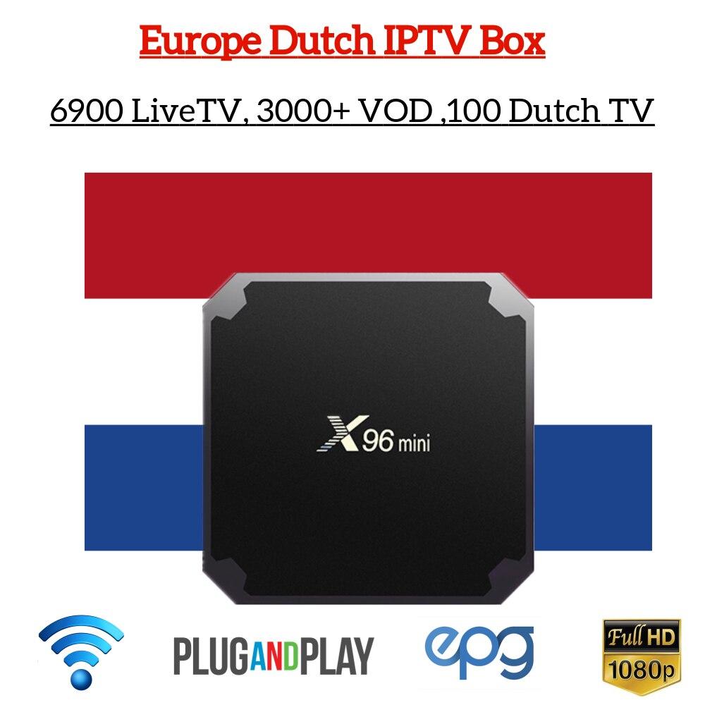 Best World IPTV X96 mini Amlogic S905W tv Box with 1 Year rocktv 6900 Live Netherland