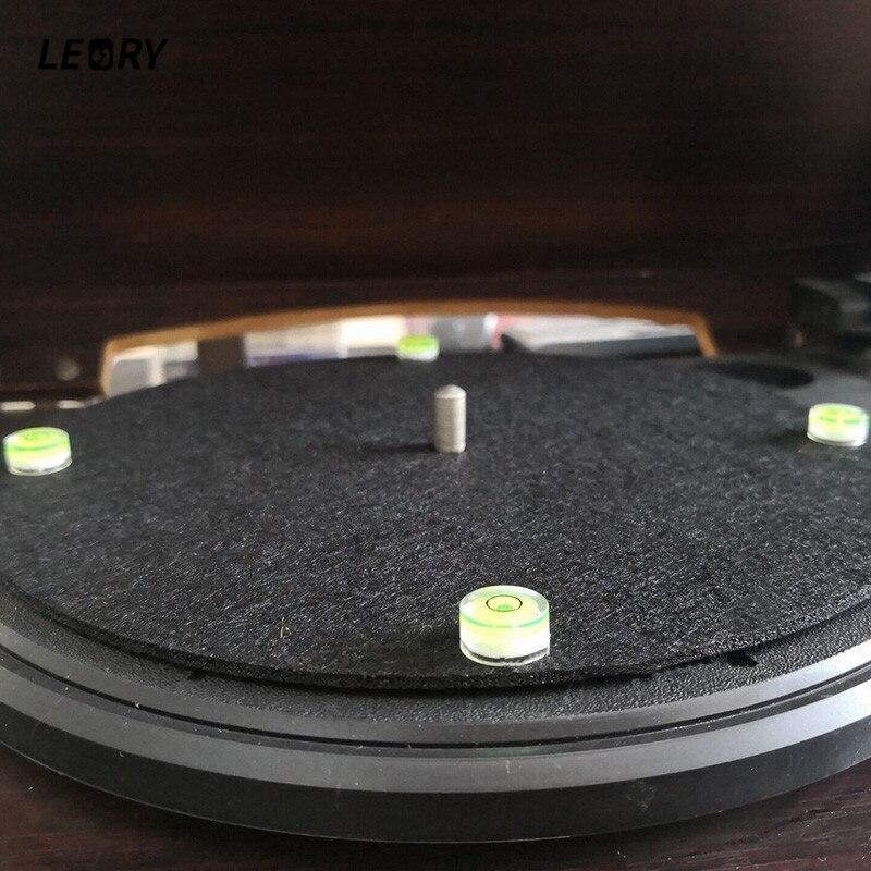 New 4pcs/lot LP Vinyl Record Turntable Spirit Bubble Degree Tonearms Set-up Level For Phono Cartridge Needle CD Player