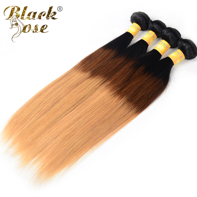 Usa Warehouse Brazilian Straight Ombre Human Hair 1pc 7a Unprocessed