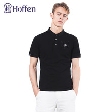 Hoffen Brand Clothing 97% Cotton Mens Polo Shirt Turn Down Collar Short Sleeve Casual Summer Tops Slim Fit Solid Polo Homme 4XL