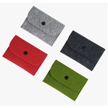 70PCS / LOT Thin Coin Bag Unsex Purse Square Pure Colors Mini Wallet Women Men Felt Pouch Card Wholesale